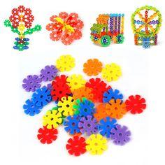 YKS 150Pcs/bag Colorful Plastic Snowflake Building Blocks Educational Toy New Sale #Affiliate