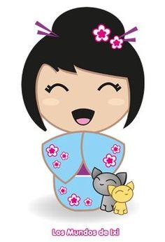 los mundos de ixi. Es una diseñadora gráfica y tiene unos diseños preciosos de kokeshis. Os aconsejo ver su página