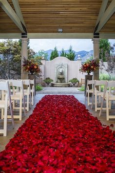 Blanket-style rose petals for the aisle. Glamorous and elegant. Cori Cook Floral Design Blog