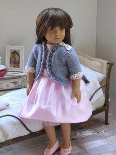 "Hand-knitted bolero jacket for 18"" Kidz N' Cats dolls by Debonair Designs"