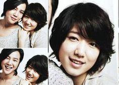 Park Shin Hye has a good length long pixie cut with wavy dark hair