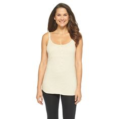 Women's Nursing Henley Cami Heather Oatmeal, Size: Large
