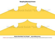 Sleeping Beauty Printable Crown