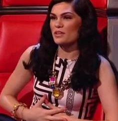 Jessie J wearing Mawi Hyper Luxe necklace and bangle on The Voice UK