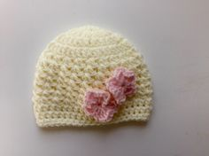This adorable baby hat crochet pattern makes a great photo prop for baby's first photographs or a charming accessory for those delightful photos you plan to take of your little one this spring. Hat crochet pattern sized for newborns thru adults by Little Monkeys Design.