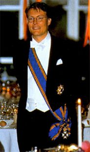 Prince Constantijn of the Netherlands (given names: Constantijn Christof Frederik Aschwin; born 11 October 1969 in Utrecht) is the third and youngest son of Queen Beatrix & the late Prince Claus of the Netherlands. His godparents are former King Constantine II of Greece, Prince Aschwin zu Lippe-Biesterfeld, Axel Freiherr von dem Bussche-Streithorst, Max Kohnstamm, & Mrs. Corinne de Beaufort-Sickinghe. He is a member of the Dutch Royal House & currently fifth in the line to the Dutch throne.