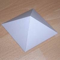 Paper model rhombic pyramid