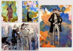 Photo collage | bodies with animal heads | wacky and fun kids art projects | k-8 art class | Elementary art | collage projects