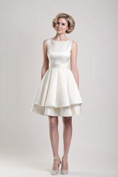 short wedding dresses boat neck
