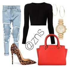 """Untitled #1"" by zoe-sapien on Polyvore featuring Boohoo, Christian Louboutin, Cushnie Et Ochs and Michael Kors"