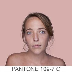 humanae - a chromatic inventory of complexions using pantone colors