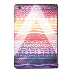 Orange Tribal Aztec Pattern Pink Purple Clouds iPad Mini Cases