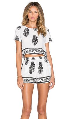 REVERSE Easy Breezy Set in White & Black | REVOLVE