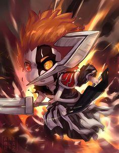 Ichigo Chibi by ArtofLariz Anime Chibi, Manga Anime, Anime Guys, Anime Art, Manga Art, Anime Bleach, Bleach Fanart, Bleach Ichigo Hollow, Bleach Characters