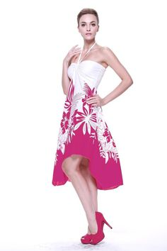 Sexy Tropical Hawaiian Halter Butterfly Party Cruise Luau Dress Indri Pink Flora #Unbranded #Sundress #Casual