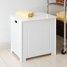 From the laundry to the kitchen bedroom to the playroom this versatile Utility Box can go anywhere and hold most household items. & Howards Storage World | White Wooden Laundry Hamper Double ... Aboutintivar.Com