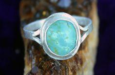Turquoise Artisan Silver Ring Handmade Custom by AeryckdeSade, $30.00