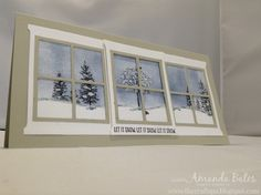 The Craft Spa - Stampin' Up! UK independent demonstrator : Happy Home - Triple Scene in a Triple Window...