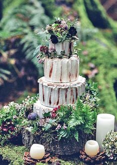 Must-See Rustic Woodland Themed Wedding Cakes ❤ See more: www.weddingforwar…… Must-See Rustic Woodland Themed Wedding Cakes ❤ See more: www. Enchanted Forest Wedding, Woodland Wedding, Rustic Wedding, Our Wedding, Dream Wedding, Wedding Ideas, Wedding Reception, Wedding Couples, Plaid Wedding