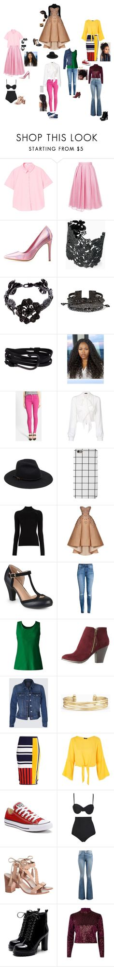 """""""My african american style"""" by dance4ever1222 ❤ liked on Polyvore featuring MANGO, Jupe By Jackie, Charlotte Russe, Stella & Dot, Valentino, Chan Luu, MIANSAI, Hudson Jeans, Plein Sud and Converse"""