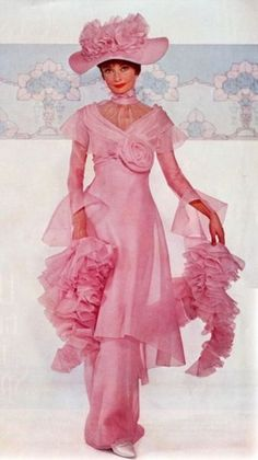 Audrey Hepburn in pink -- around the time of MY FAIR LADY. This may have been used in the film, but I don't recall it.