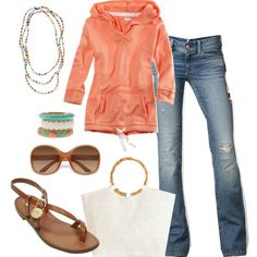Loving Coral!, created by heather-rolin on Polyvore