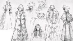 Moika Palace - sharpe-on-asgard: Concept art for Crimson Peak. Period Costumes, Movie Costumes, Costume Design Sketch, Crimson Peak, Sketchbook Inspiration, Work Inspiration, Character Inspiration, Futuristic Art, Guache