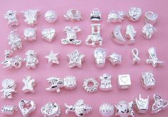 Mixed Lot of 10 Silver Charms and Spacers