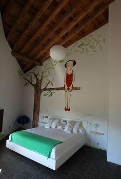 Habitación decorada por Eva Armisen para La Demba