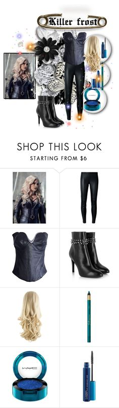 """The Flash S03 Killer Frost Costume"" by blackleatherjackets ❤ liked on Polyvore featuring MICHAEL Michael Kors, Thierry Mugler, MAC Cosmetics and Lipstick Queen"