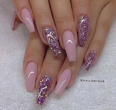 #chic #diamond #acrylic #arcylnails #gelnails #acrylicnails #glam #glitter #luxury #nail #nailart #nailpolish #nails #nailswag #colorful #girls #love #new