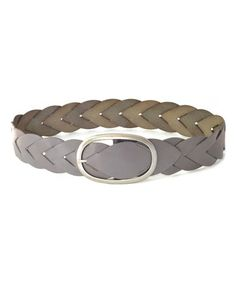 Look what I found on #zulily! Gray Braided Amelia Leather Belt by Elise M #zulilyfinds