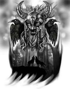 https://flic.kr/p/ehrts1 | Odin tattoo idea | digital painting.