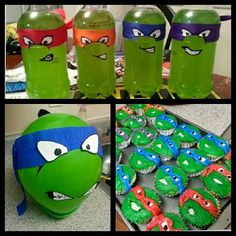 Art with Ms. Gram: Birthday Party Decor! Ninja Turtles Decorations (Drinks, balloons, cupcakes, and more)