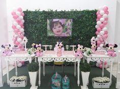 Momento Mágico Decorações : Minnie Rosa No Jardim