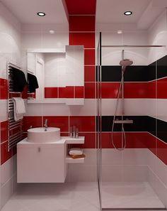 kleines bad in beige und taupe - dusche mit glasabtrennung | bad, Hause ideen
