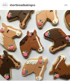 These are for a sweet little girl who loves horses! Cowgirl Cookies, Horse Cookies, Fun Cookies, Cupcake Cookies, Sugar Cookies, Horse Theme Birthday Party, Cowgirl Birthday, Cowgirl Party, Horse Birthday Cakes