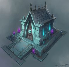 ArtStation - Corel Painter Video Tutorial - Mausoleum Structure Content Creation Process, David Harrington