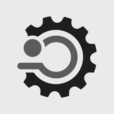 Simple engine logo vector technology icon design | premium image by rawpixel.com / Kappy Kappy Business Logo, Business Card Design, Icon Design, Logo Design, Gear Logo, Logo Psd, Vector Technology, Typography Poster Design, Simple Icon
