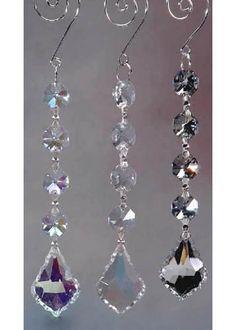 Gemstone Hanging Crystals Chandelier, 6-1/4-inch