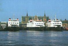 Helsingør (Region Hovedstaden) - tre færger i Helsingør (DSB)
