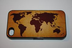 Rubber iPhone 4 Case  World Map by CreateItYourWay on Etsy, $21.99