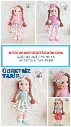 Amigurumi Zühre Bebek Yapımı - Amigurumi Tariflerim Knitting For BeginnersKnitting FashionCrochet PatronesCrochet Baby Finger Crochet, Wire Crochet, Crochet Gifts, Crochet Dolls, Easy Crochet, Crochet Clothes, Crochet Baby, Knitting Blogs, Knitting Stitches