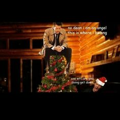 Bwahahaha Dean and Cas Supernatural Christmas, Supernatural Memes, Best Tv Shows, Best Shows Ever, Dean And Castiel, Winchester Boys, Two Brothers, Angels And Demons, Destiel