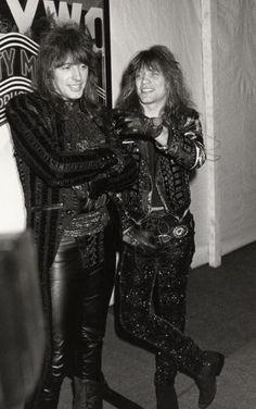 Jon Bon Jovi and Richie Sambora in B&W