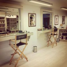 Our beautiful makeup studio. Making Faces Makeup Studio www. Spa Studio, Studio Room, Beauty Studio, Studio Ideas, Makeup Bar, Makeup Salon, Hair Makeup, Estudio Makeup, Makeup Studio Decor