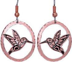Native American Jewelry- hummingbird earrings
