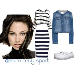 denim muy sport by maryrec on Polyvore featuring moda, French Connection and Vans