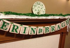erin go bragh st patricks day banner sign garland st pattys day green ...