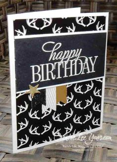 Masculine Birthday by Wendy Lee, #creativeleeyours, Stampin' Up!, Dec 2015 FMN paper pumpkin bonus card, winter wonderland dsp, Happy Birthday,everyone stamp set